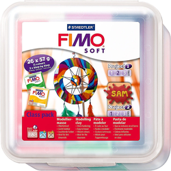 STAEDTLER Knete FIMO soft Class Pack Big Box, 26 x 57 g