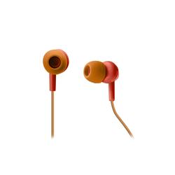 sbs SBS Kopfhörer mit Kabel rot, Mikrofon, 3,5 mm Klinke, Anruf-Annahme/Ende-Taste In-Ear-Kopfhörer