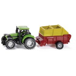 SIKU Spielwaren Traktor mit Pöttinger Ladewagen