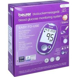 Beurer GL 44 Blutzuckermessgerät lila mg/dl
