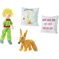 Heunec® Plüschfigur Der kleine Prinz (4-St), mit Plüschfuchs und Kissen