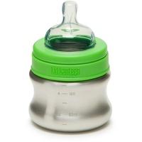 Klean Kanteen Babyflasche 148ml langsamer Trinkfluss silber/grün 2021 Trinkflaschen BPA frei