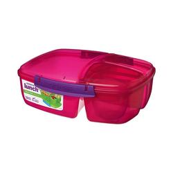 sistema Brotschale Triplesplit Lunchbox, 3-fach unterteilt, pink rosa