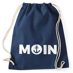 MoonWorks Turnbeutel Cooler Turnbeutel Moin mit Anker Moonworks® blau