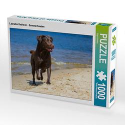 Labrador Retriever - Sommerfreuden Lege-Größe 64 x 48 cm Foto-Puzzle Bild von SiSta-Tierfoto Puzzle