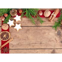 Platzset, Tischsets I Platzsets abwaschbar - Weihnachten - Zimtsterne Allerlei - aus erstklassigem Vinyl (Kunststoff) - 4 Stück - 44 x 32 cm - rutschfeste Tischdekoration, Tischsetmacher, (4-St)
