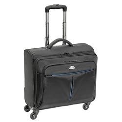 PEDEA Trolley Rollkoffer PREMIUM PLUS Laptop-Fach bis 17,3 Zoll (43,9 cm) mit Übernachtungsfach, sch