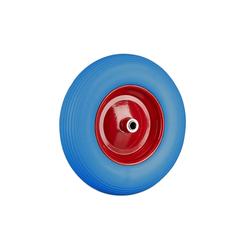 relaxdays Schubkarren-Rad Schubkarrenrad 4.80 4.00-8 aus Vollgummi blau