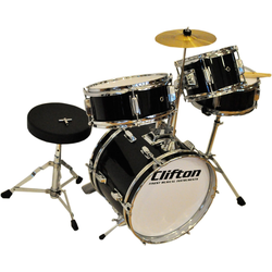 Clifton Kinderschlagzeug Junior Akustik Drum Set (11-tlg)