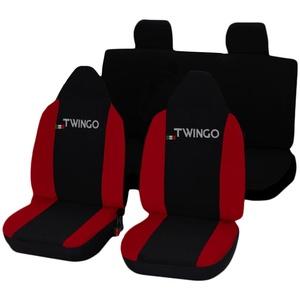 Lupex Shop Twingo N.R Sitzbezüge, schwarz/rot