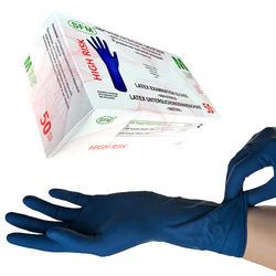 SFM ® HIGH RISK : M Latexhandschuhe puderfrei tex 15g blau (50)