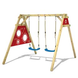 Wickey Doppelschaukel Schaukelgestell Smart Score - Schaukel, Schaukelgerüst, Kinderschaukel, Holzschaukel rot