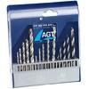 AGT Bohrer-Set 15-tlg. mit HSS-Metallbohrer, Holz- & Steinbohrer