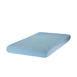 Zöllner Spannbettlaken für Kinderbetten, Jersey ¦ blau ¦ 100% Baumwolle