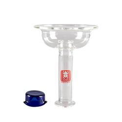 Glas Einlochkopf mit blauem Mod