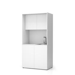Büroküche nika mit waschbecken und wasserhahn 1000 x 600 x 2000 mm,