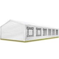 TOOLPORT Partyzelt 6x12m PE 180g/m² weiß wasserdicht Gartenzelt, Festzelt, Pavillon