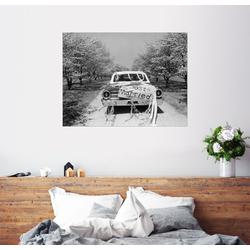 Posterlounge Wandbild, Hochzeitsauto 90 cm x 70 cm