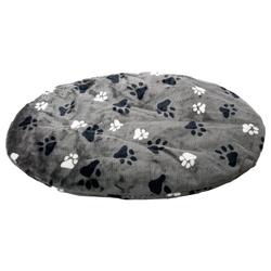 Karlie Kissen Track oval, grau, Maße: 90 x 66 x 4 cm