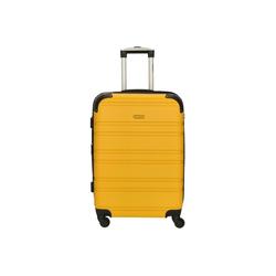 CHECK.IN® Trolley Bern 4-Rollen-Trolley 67 cm, 4 Rollen gelb