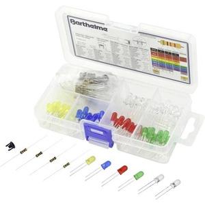 Barthelme LED-Sortiment Kalt-Weiß, Warm-Weiß, Gelb, Blau, Rot, Grün Rund 5mm