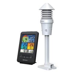 BRESSER Wetterstation WLAN Farb-Wetterstation mit 4-in-1 UV/Licht-Sensor