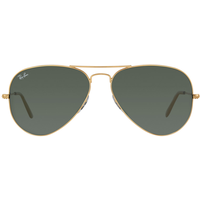 Ray Ban Aviator RB3025 001/58 58-14 polished gold/green