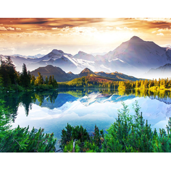 Fototapete Mountain Lake, glatt 5 m x 2,80 m
