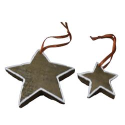 Lebkuchenstern oder Lebkuchenmann Weihnachtsdekoration zum Hängen