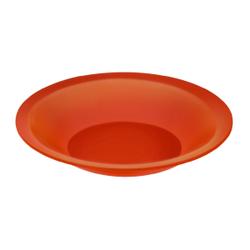 Rotho CARUBA Teller, tief, Teller aus Kunststoff, Farbe: papaya red