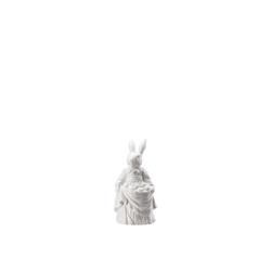 Hutschenreuther Osterfigur Hasenfiguren Weiß Hasenfrau mit Eiern (1 Stück)