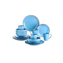 vancasso Geschirr-Set NAVIA (16-tlg), Steingut blau