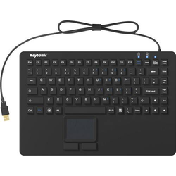 Keysonic KSK-5230 IN (UK) USB Tastatur UK-Englisch, QWERTY, Windows® Schwarz Silikonmembran, Wasser