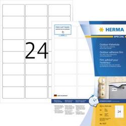 Herma 9537 Etiketten (A4) 63.5 x 33.9mm Folie, matt Weiß 960 St. Extra stark haftend Folien-Etikett