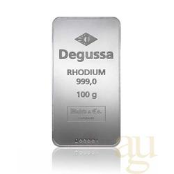 100 Gramm Degussa Rhodiumbarren