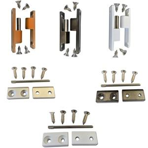 Scharnier Fliegengittertür als Ersatzteil oder Zubehör für Insektenschutztür oder Fliegentür (Standard, Weiß RAL 9016)