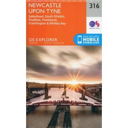 Newcastle Upon Tyne 1 : 25 000