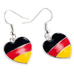 """Herzförmige Ohrringe """"Deutschland"""""""