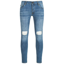 BRAVE SOUL Crofton Stretch Skinny Herren Denim Cut Out Jeans MJN-CROFTON - W34/L34
