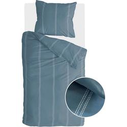 Bettwäsche Remade Cotton, Walra, mit dezenten Streifen blau 1 St. x 155 cm x 220 cm