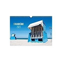 Strandkörbe 2021 (Wandkalender 2021 DIN A4 quer)