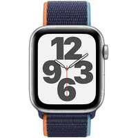 Apple Watch SE GPS + Cellular 44 mm Aluminiumgehäuse silber, Sport Loop dunkelmarine