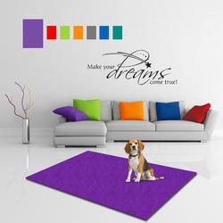 MATDOX Pet Isofloor SX Uni lila, Maße: 75 x 50 cm