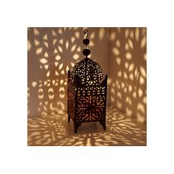 Casa Moro Laterne Marokkanische Eisen-Laterne Firyal 70 cm hoch x 23cm breit in edelrost-braun für draußen & Innen, hängend & stehend, Windlicht wie aus 1001 Nacht, L1650