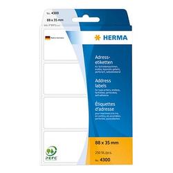 250 HERMA Adressetiketten 4300 weiß