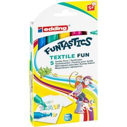 EDDING Textilmarker edding 17, Funtastic textil fun, 2-3 mm, 5 Stück