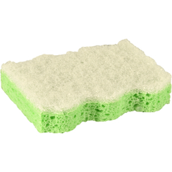 Papstar Topfreiniger-Schwamm, grün, Abmessungen: 9,5 x 6,4 x 2 cm, 1 Packung = 5 Topfreiniger