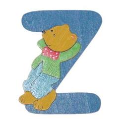 Holzbuchstabe Z Bär-Design (H 10 cm)
