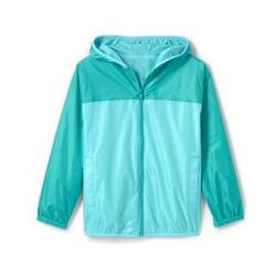 Wasserdichte Regenjacke mit Packfach - 98/104 - Blau