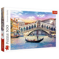 Trefl Puzzle 37398 Rialto Brücke, Venedig 500 Teile Puzzle, 1000 Puzzleteile